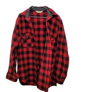 Vintage L.L. Bean Buffalo Plaid Wool Shirt S/M